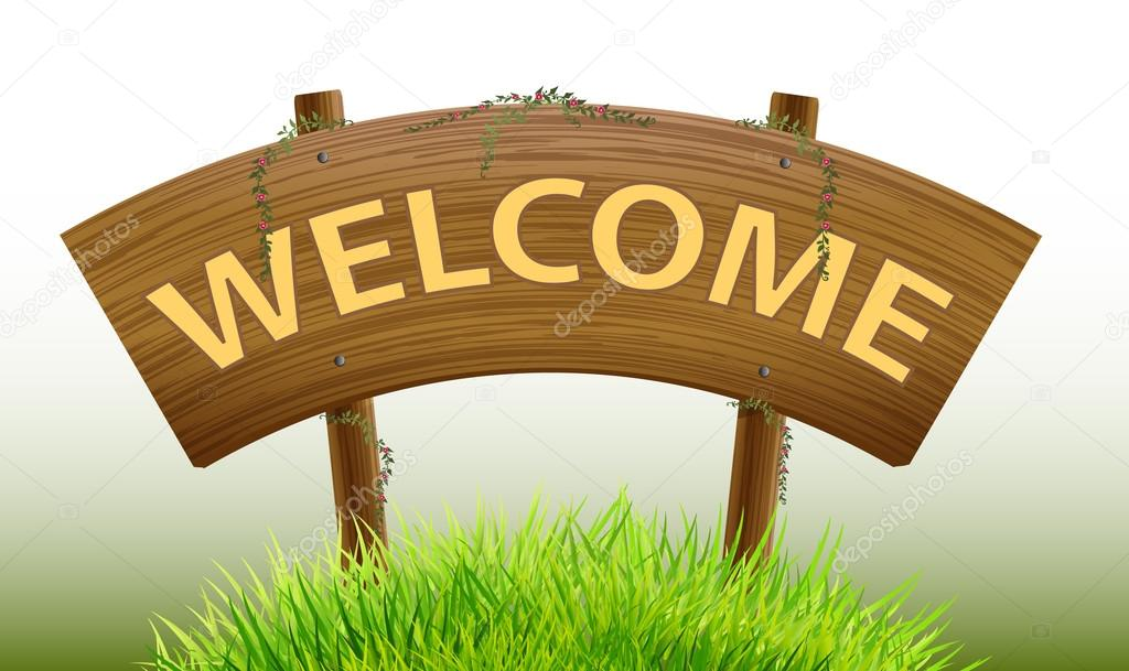 wood Sign welcome vector design