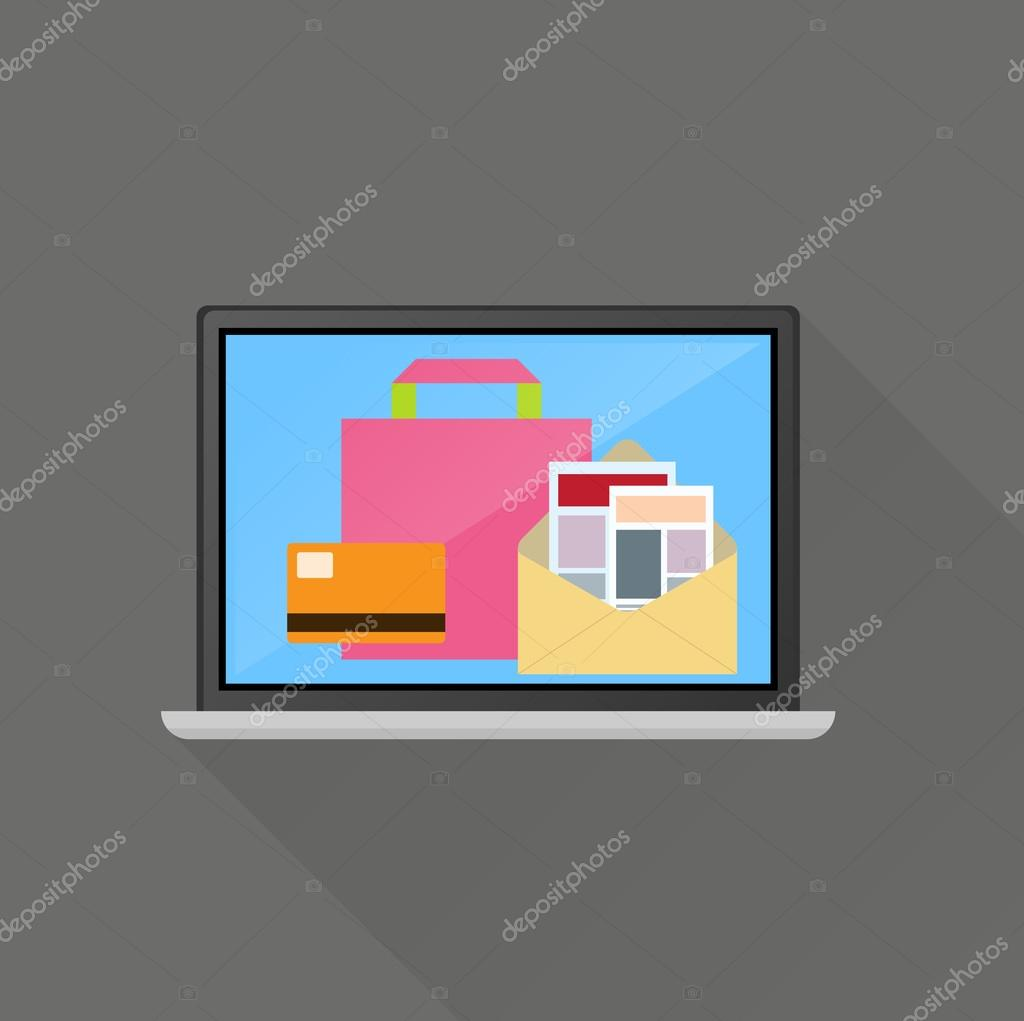 Ecommerce on line business concept
