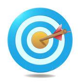 Cíl a šipka obchodní úspěch koncepce