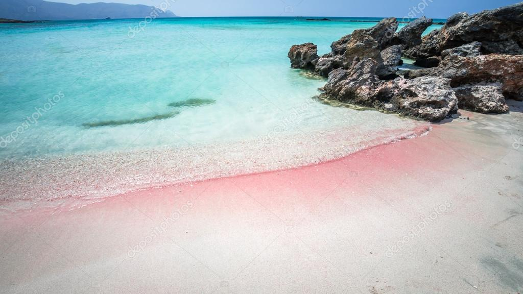 Elafonisi Lagoon, Crete Island, Greece