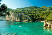 Paleokastritsa Bucht, Korfu Insel, Griechenland
