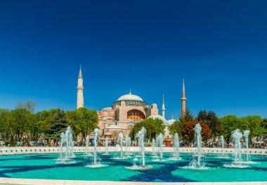 Hagia Sophia mosque in Sultanahmet Square, Istanbul, Turkey.