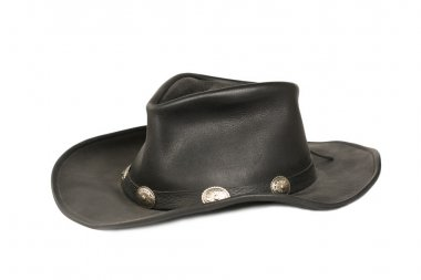 Black Cowboy leather hat