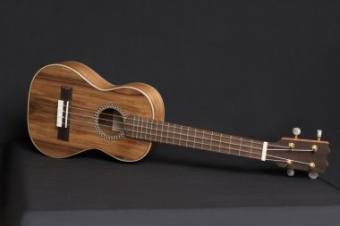 Wooden Ukulele 	musical instrument