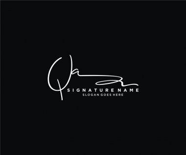Initial Signature logo design. Logo for fashion,photography, wedding, beauty, business company. icon