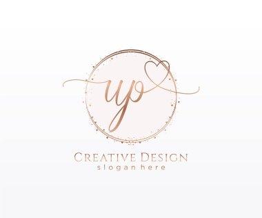 Initial handwriting logo design. Logo for fashion,photography, wedding, beauty, business company. icon