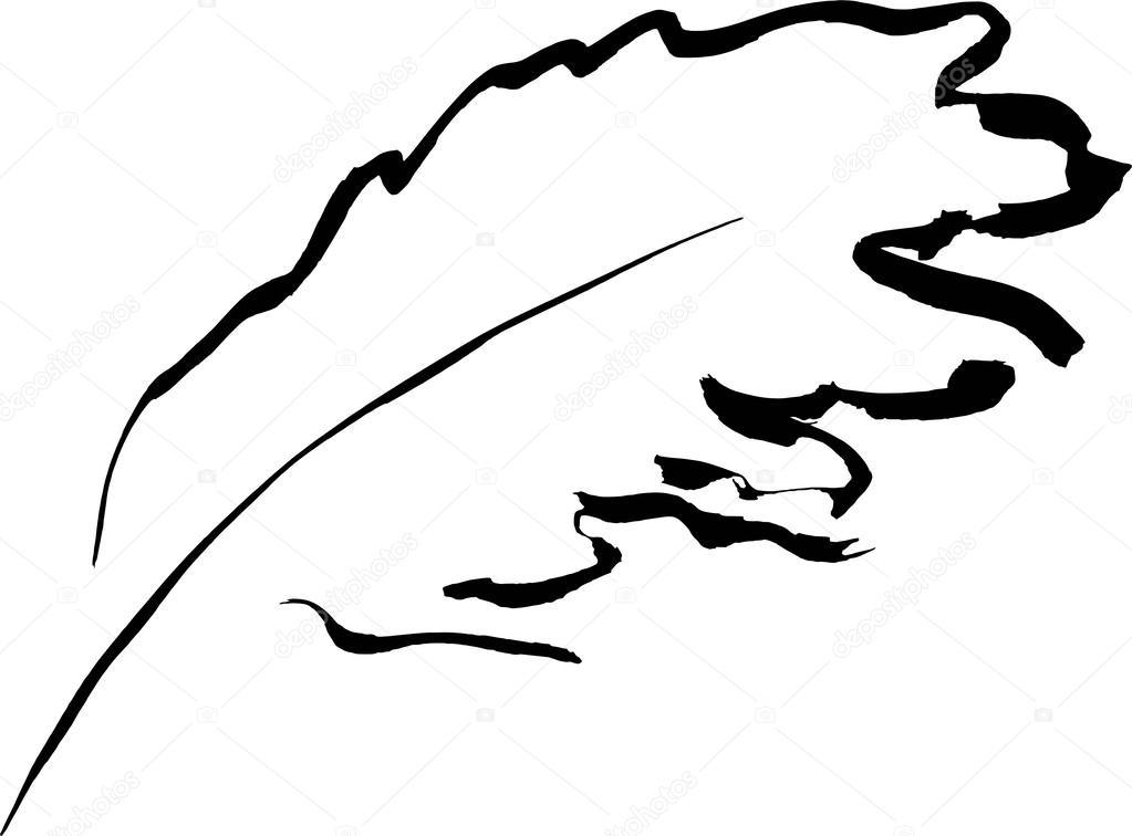Line Art Feather : Feather u stock vector naltik