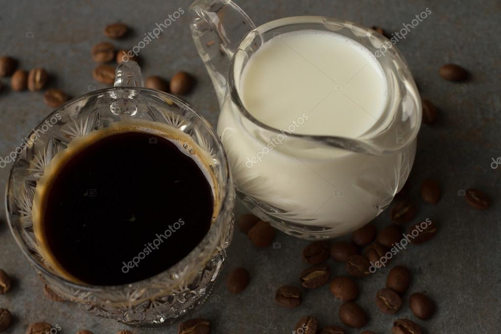 Grain cup coffee and milk