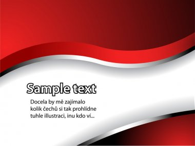 Text pattern with red and silver gradient and shadow
