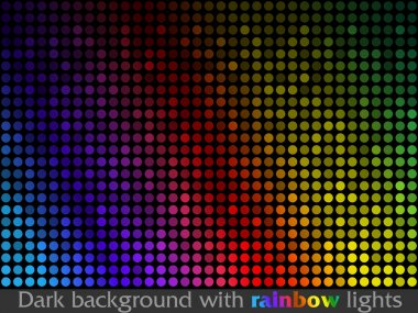 Vector black pattern made of colorful flashing points clip art vector