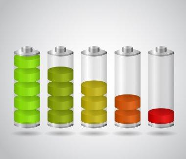 Set of charging batteries