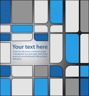 Blue and grey squares pattern