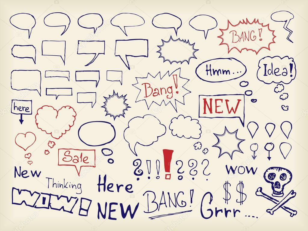 Various bubbles for speech