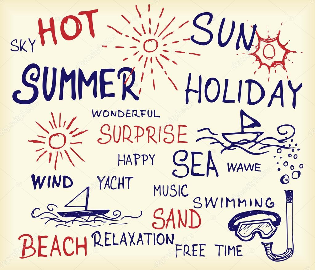 Summer and holiday icons
