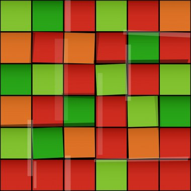 Pattern made from color squares