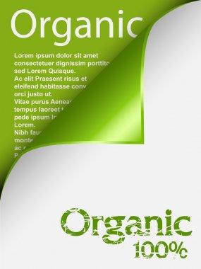 Text organic under curled corner