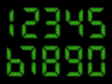 Numbers from seven segment display