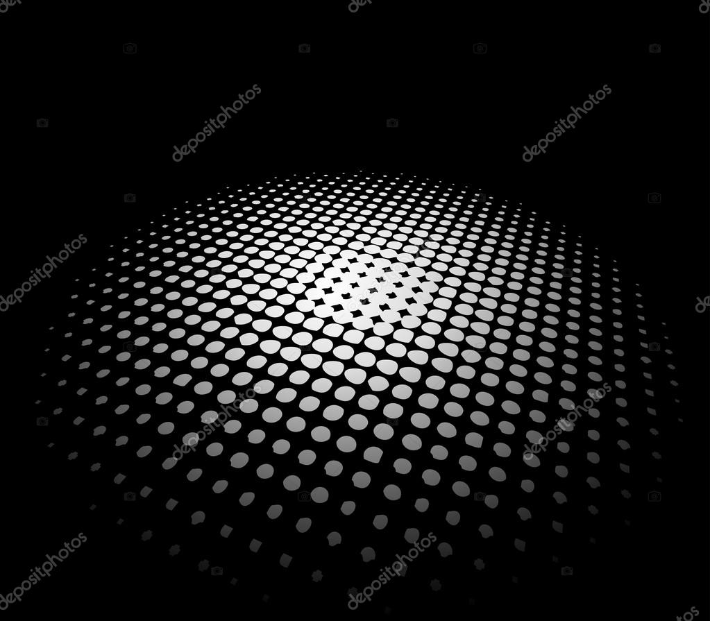 Abstract background with white led lights