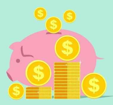 SAVING MONEY AND PIGGY