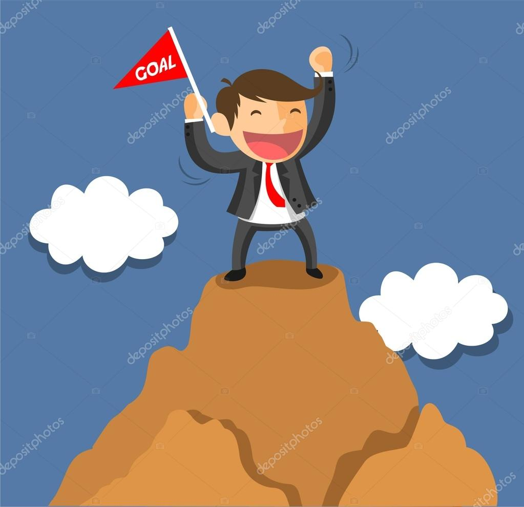 BUSINESSMAN ON SUCCESS ICON