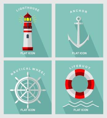 Nautical element flat icon
