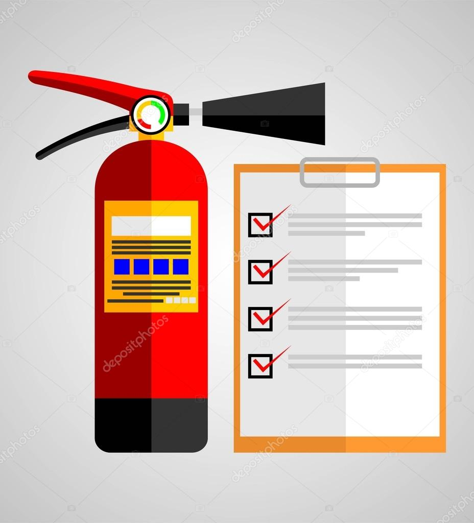 Fire extinguisher on check list stock vector ixies 75166669 fire extinguisher on check list stock vector 75166669 altavistaventures Image collections