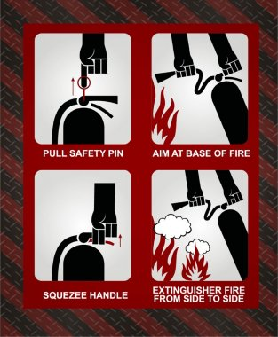 FIRE EXTINGUISHER ILLUSTRATION