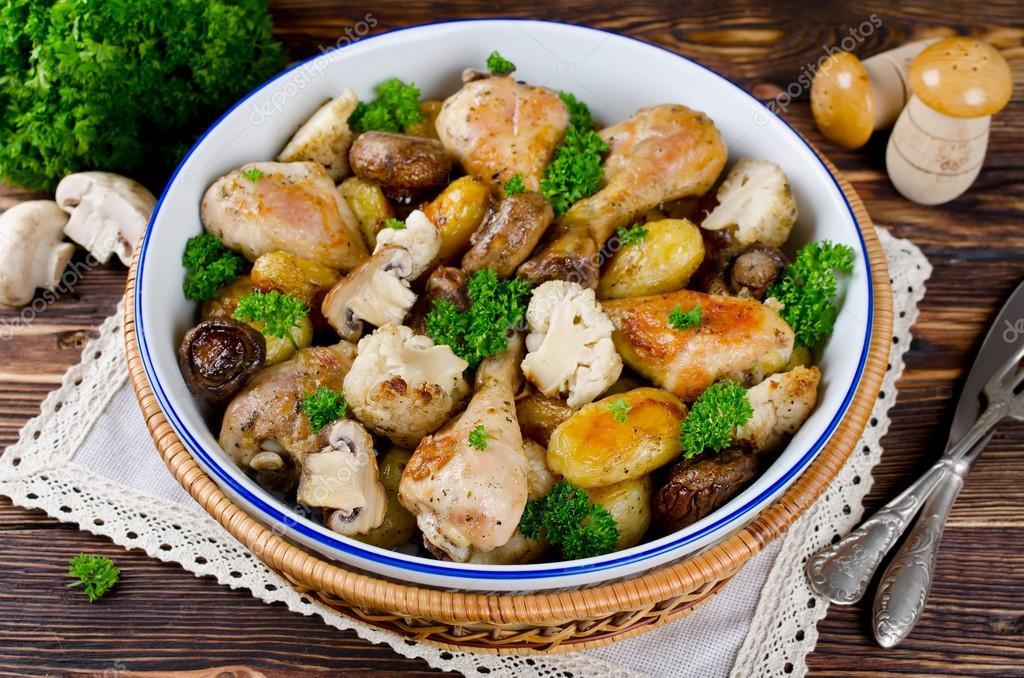 цветная капуста картошка курица