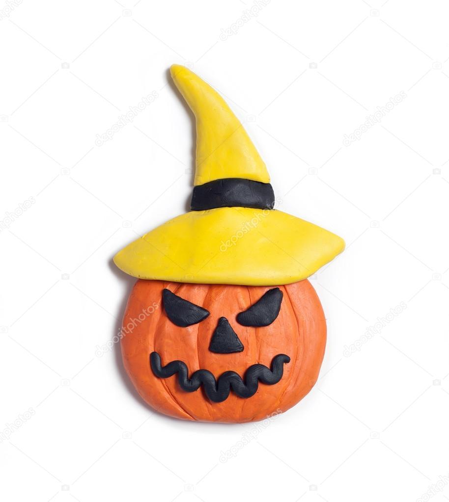 Открытки, поделки из пластилина картинки связанные с хэллоуином