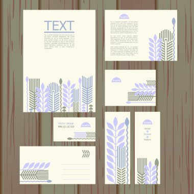 Set of templates with floral pattern