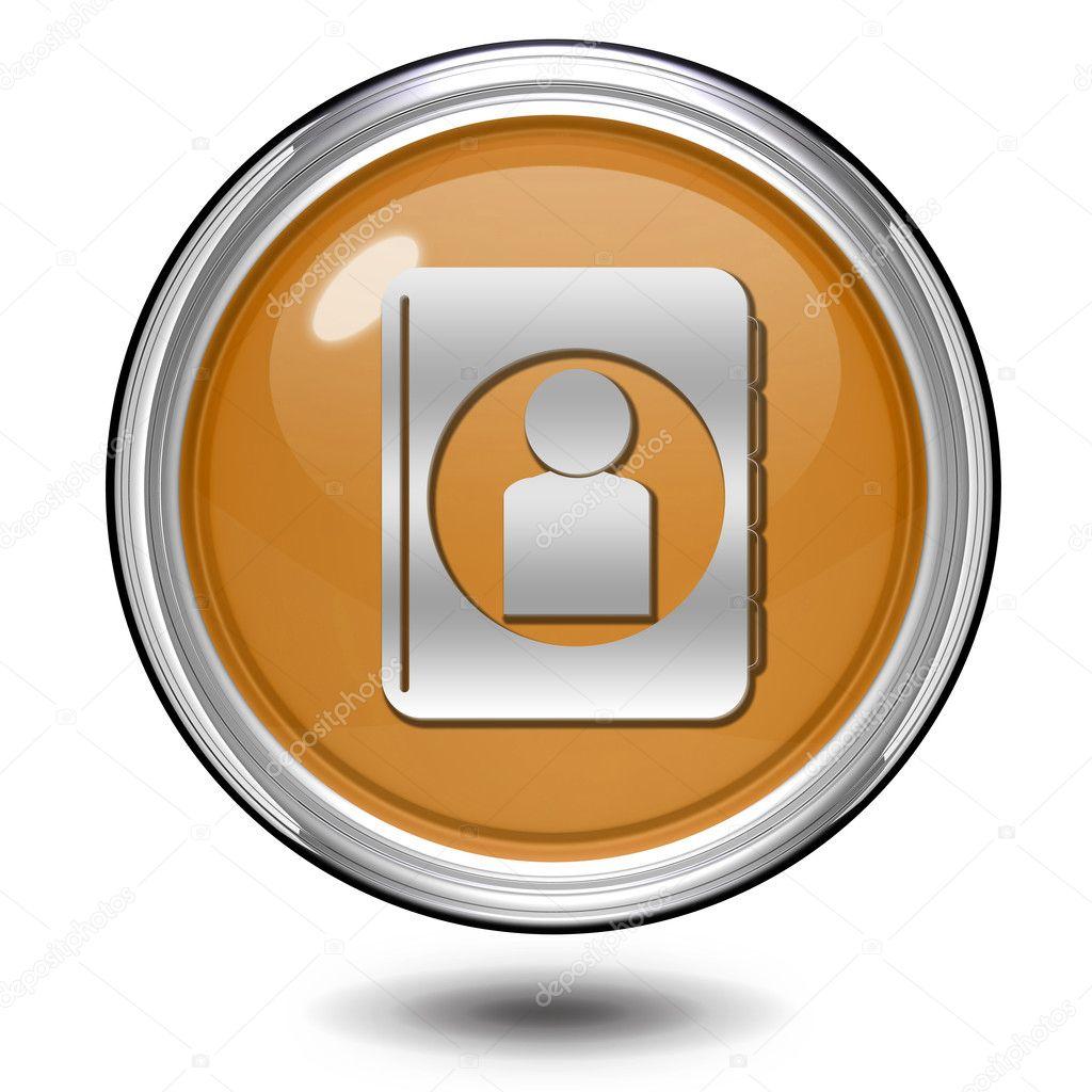 Profile circular icon on white background — Stock Photo