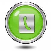 Fotografia icona circolare rubrica su sfondo bianco