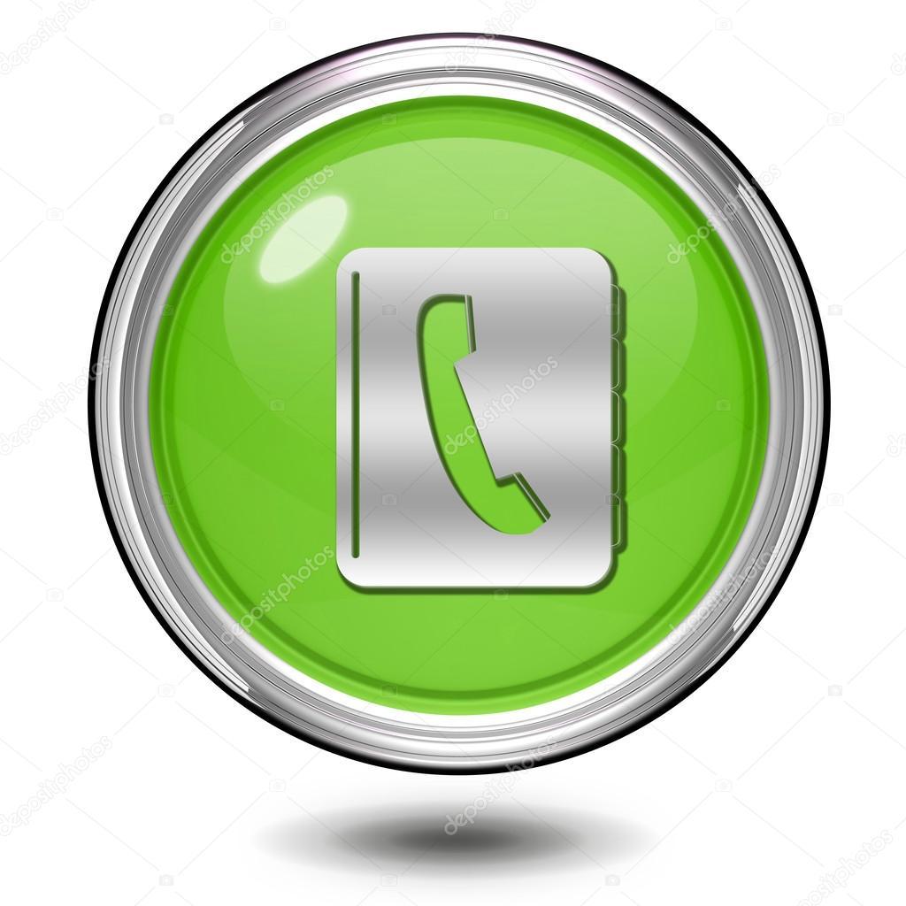 92f552a237 Τηλεφωνικός Κατάλογος κυκλική εικόνα σε άσπρο φόντο — Φωτογραφία Αρχείου