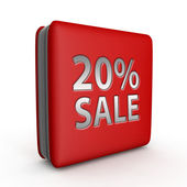 Prodej 20 % čtvercovou ikonu na bílém pozadí