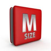Ikona M, která velikost čtverec na bílém pozadí