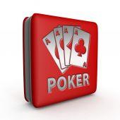 Poker náměstí ikona na bílém pozadí
