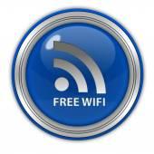 Kulatá ikona wifi zdarma na bílém pozadí