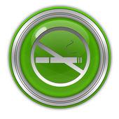 Kulatá ikona cigaret na bílém pozadí