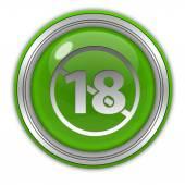 18 kulatá ikona na bílém pozadí