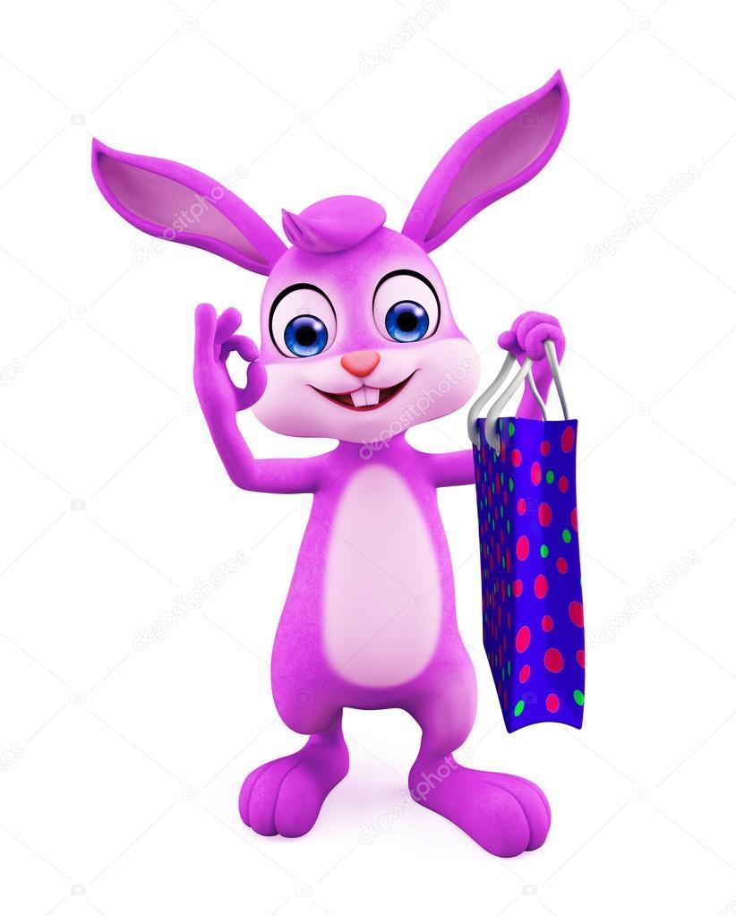 18dc4de18a4 Πάσχα λαγουδάκι με τσάντα για ψώνια — Φωτογραφία Αρχείου © vertex4 ...