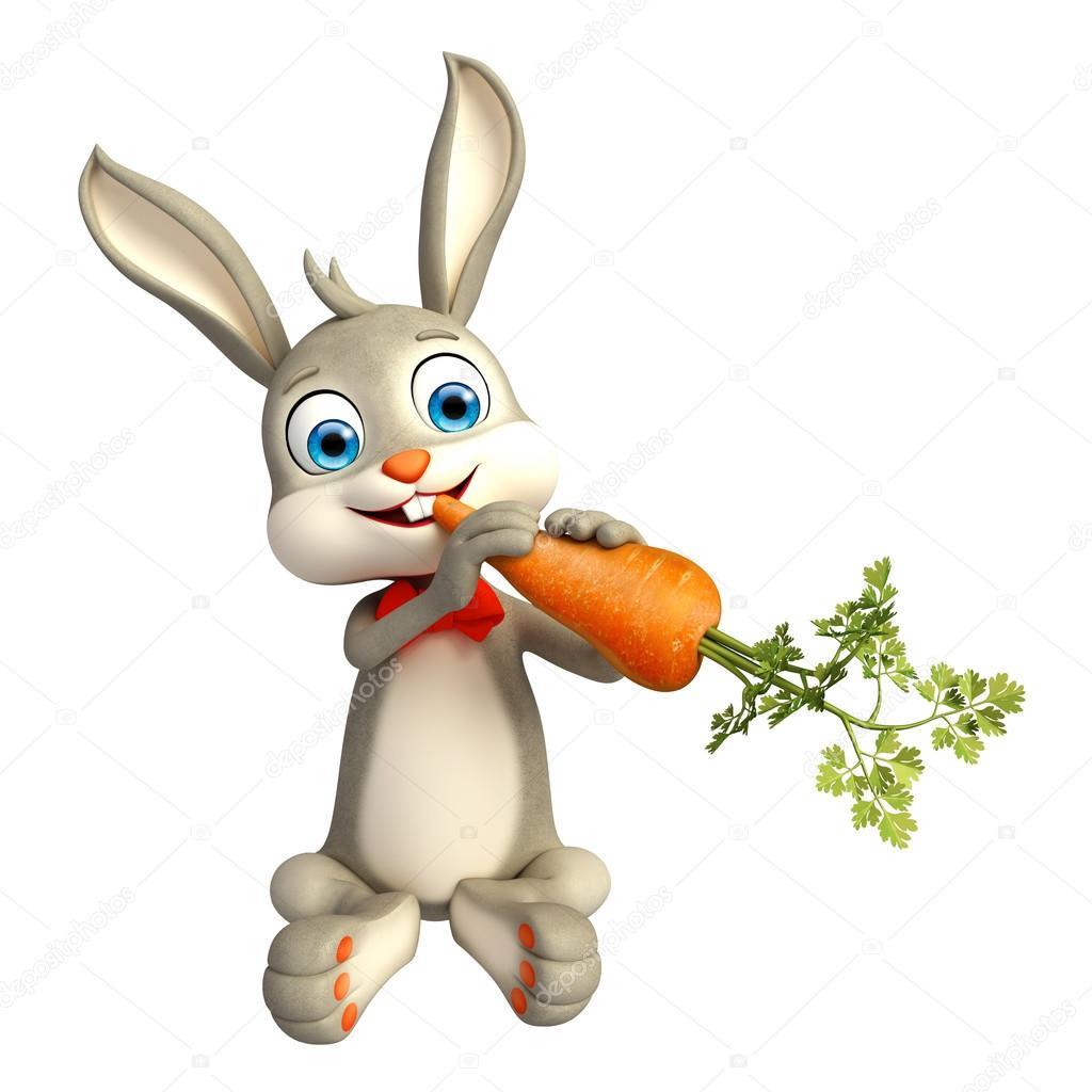 картинка кролик с морковкой
