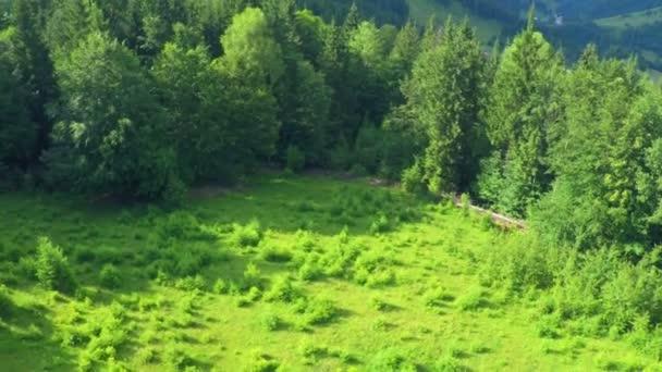 Vzdušný let v horách Karpat