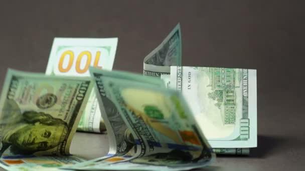 Falling euro and dollars banknotes