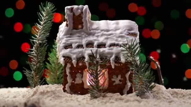 Mézeskalács házikó, karácsonyi fények