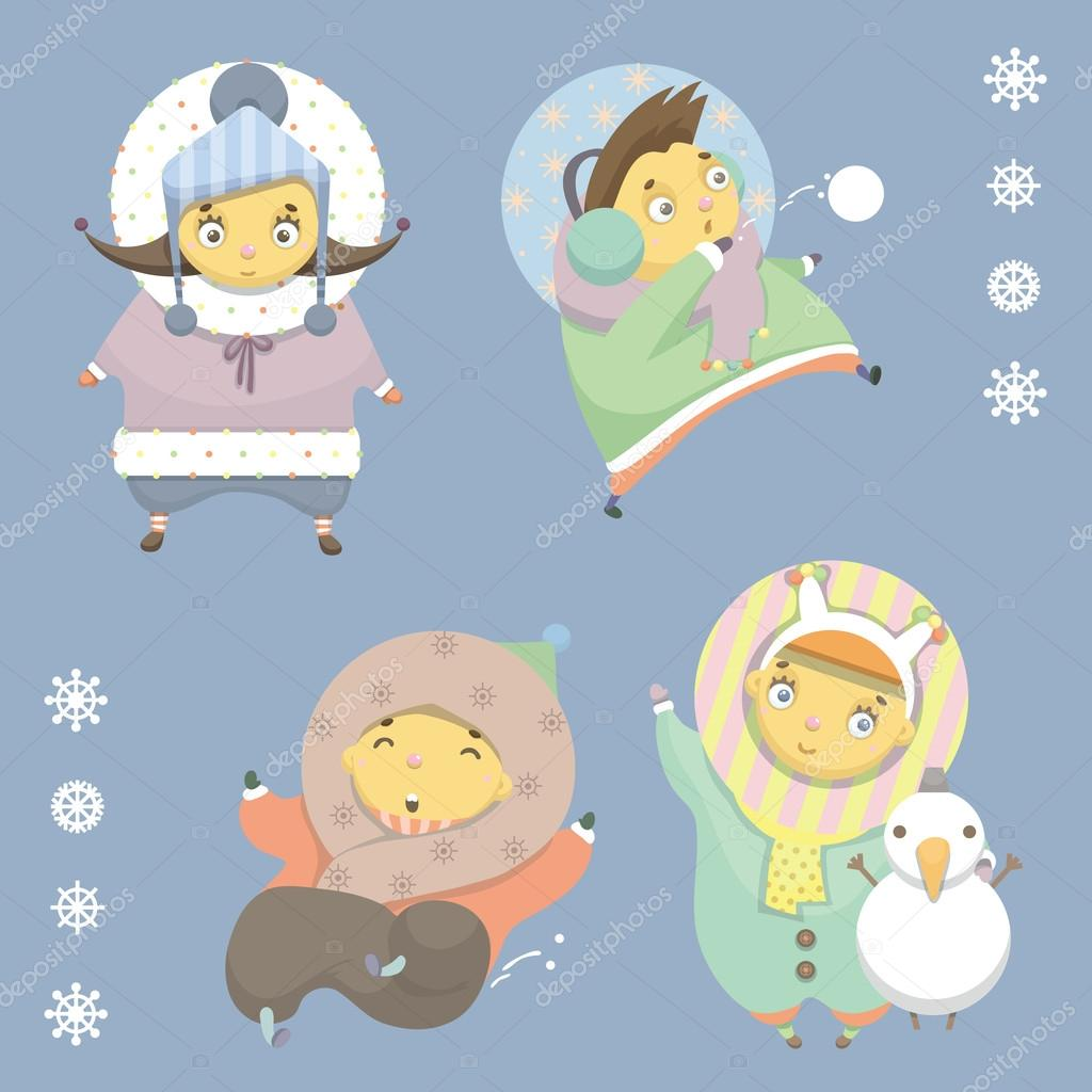 Children winter