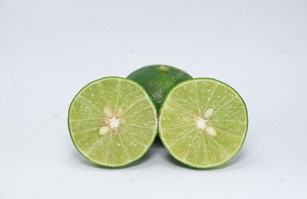 lemon, cut in half