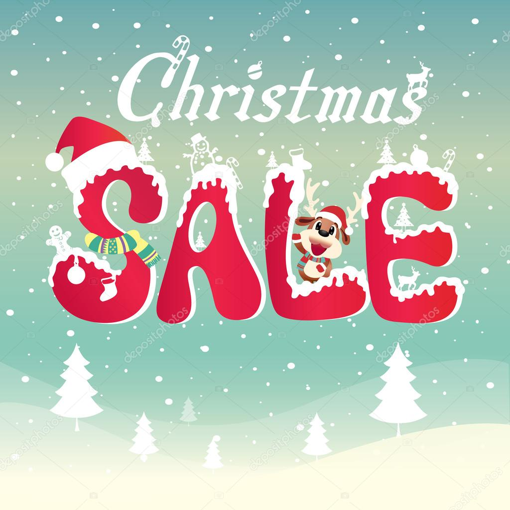 weihnachten verkauf stockvektor breezo 59097851. Black Bedroom Furniture Sets. Home Design Ideas