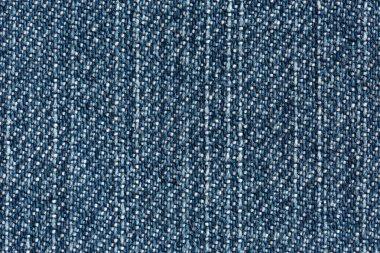 Blue Denim Texture close up vertical Direction of Threads