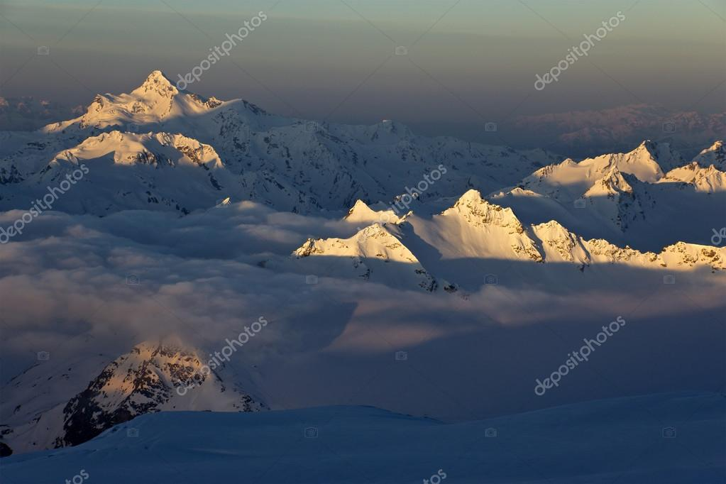 High mountains sunrise