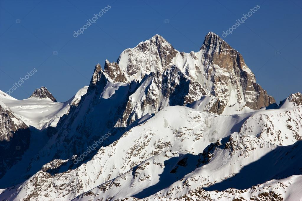 High contrast mountain landscape